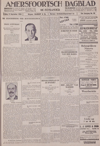 Amersfoortsch Dagblad / De Eemlander 1934-09-14