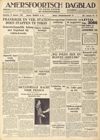 Amersfoortsch Dagblad / De Eemlander 1939-08-10