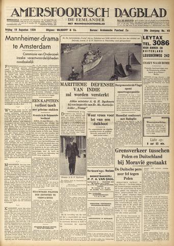 Amersfoortsch Dagblad / De Eemlander 1939-08-18