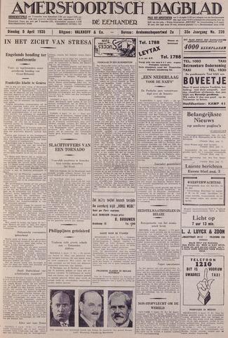 Amersfoortsch Dagblad / De Eemlander 1935-04-09