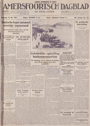 Amersfoortsch Dagblad / De Eemlander 1940-05-23