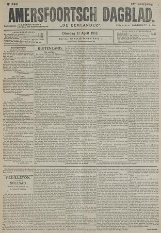 Amersfoortsch Dagblad / De Eemlander 1916-04-11