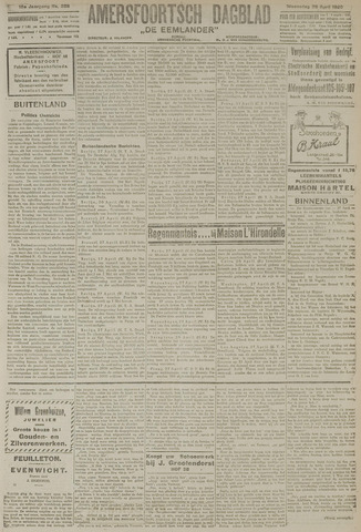 Amersfoortsch Dagblad / De Eemlander 1920-04-28