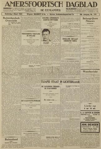 Amersfoortsch Dagblad / De Eemlander 1932-03-03