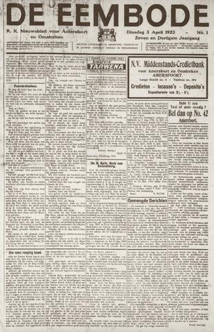 De Eembode 1923-04-03