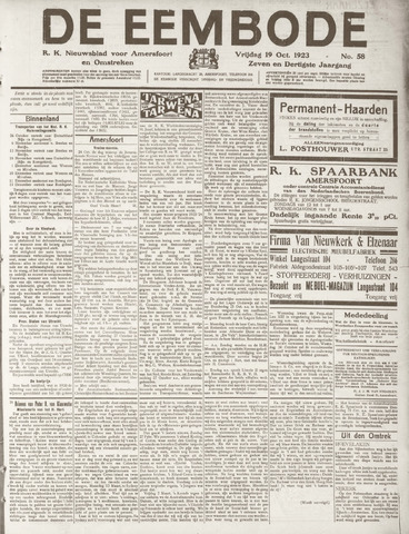 De Eembode 1923-10-19