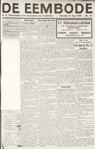De Eembode 1922-09-12