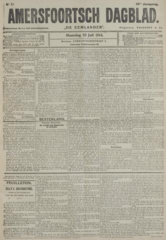 Amersfoortsch Dagblad / De Eemlander 1914-07-20