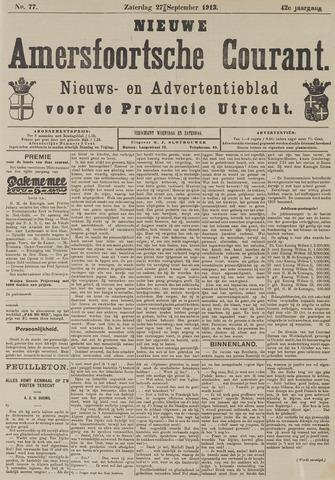 Nieuwe Amersfoortsche Courant 1913-09-27
