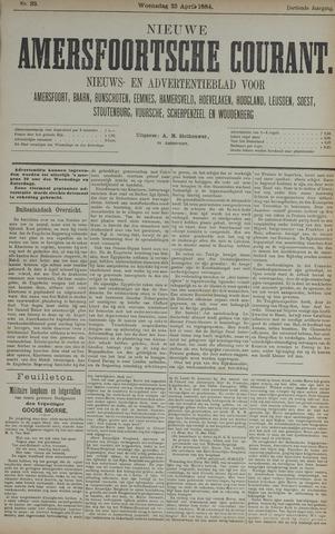 Nieuwe Amersfoortsche Courant 1884-04-23