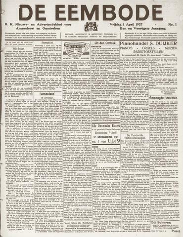 De Eembode 1927-04-01