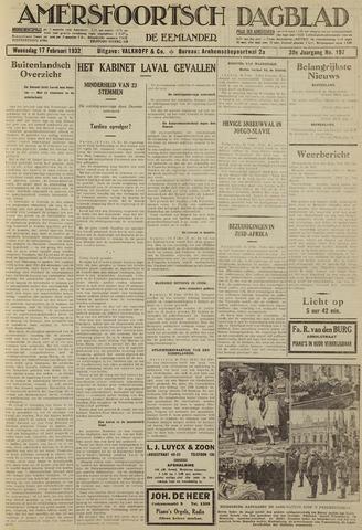Amersfoortsch Dagblad / De Eemlander 1932-02-17