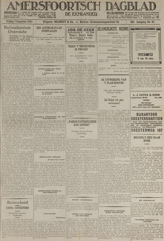 Amersfoortsch Dagblad / De Eemlander 1931-08-07