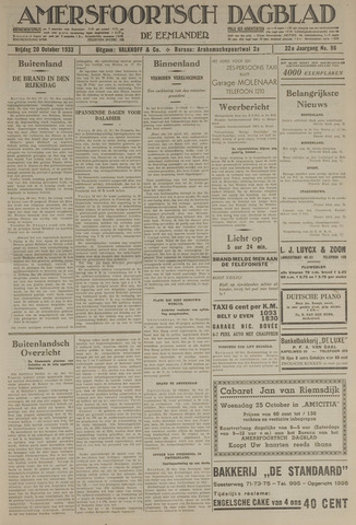 Amersfoortsch Dagblad / De Eemlander 1933-10-20