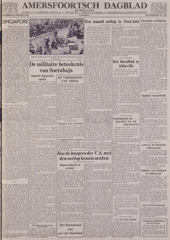 Amersfoortsch Dagblad / De Eemlander 1942-01-08