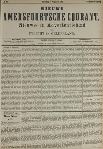Nieuwe Amersfoortsche Courant 1885-08-15