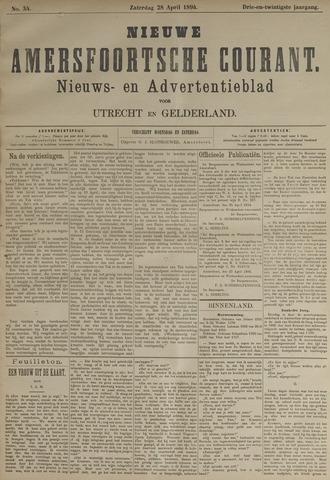 Nieuwe Amersfoortsche Courant 1894-04-28