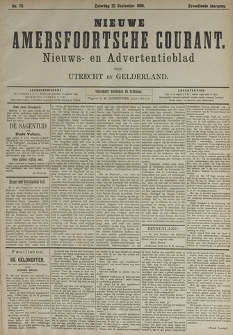 Nieuwe Amersfoortsche Courant 1888-09-22