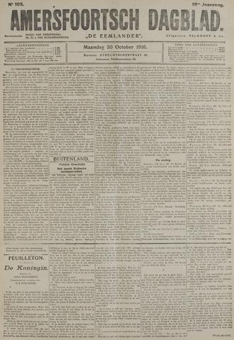 Amersfoortsch Dagblad / De Eemlander 1916-10-30