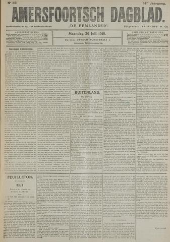 Amersfoortsch Dagblad / De Eemlander 1915-07-26
