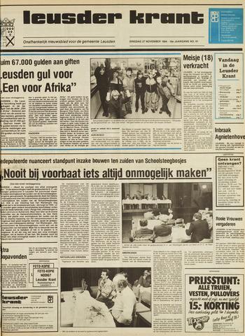 Leusder Krant 1984-11-27