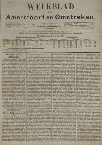 Weekblad voor Amersfoort en Omstreken 1878-01-11