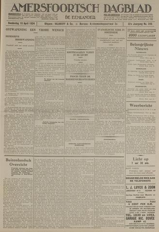 Amersfoortsch Dagblad / De Eemlander 1934-04-19