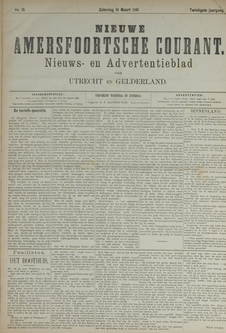 Nieuwe Amersfoortsche Courant 1891-03-14