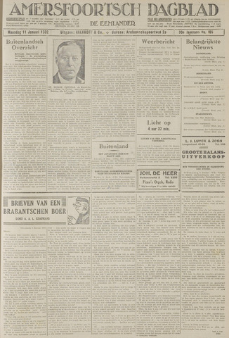 Amersfoortsch Dagblad / De Eemlander 1932-01-11