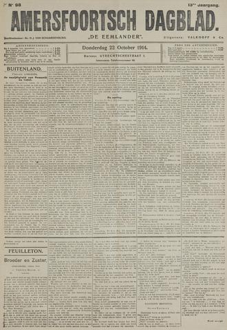 Amersfoortsch Dagblad / De Eemlander 1914-10-22