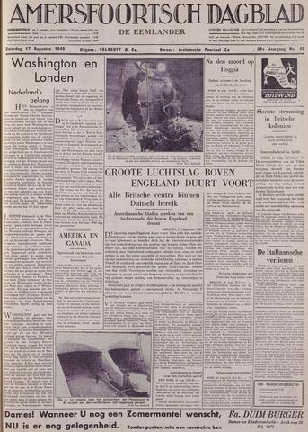 Amersfoortsch Dagblad / De Eemlander 1940-08-17