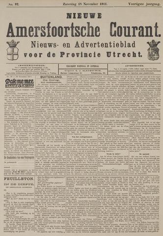 Nieuwe Amersfoortsche Courant 1911-11-18