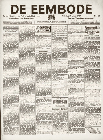 De Eembode 1927-06-10