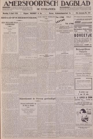 Amersfoortsch Dagblad / De Eemlander 1935-04-15