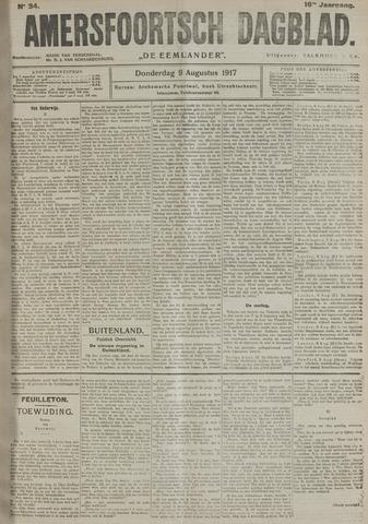 Amersfoortsch Dagblad / De Eemlander 1917-08-09