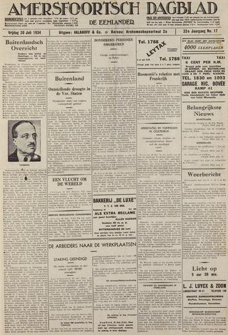 Amersfoortsch Dagblad / De Eemlander 1934-07-20