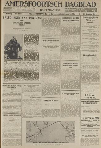 Amersfoortsch Dagblad / De Eemlander 1933-07-17