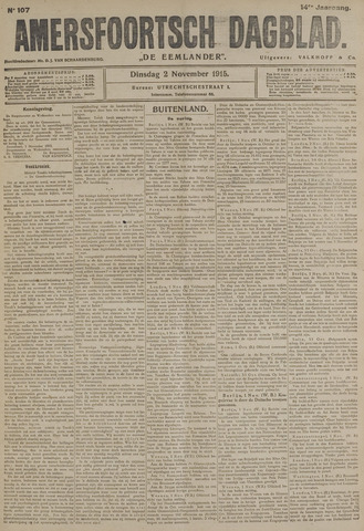 Amersfoortsch Dagblad / De Eemlander 1915-11-02