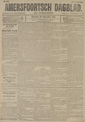 Amersfoortsch Dagblad / De Eemlander 1915-12-20