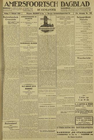 Amersfoortsch Dagblad / De Eemlander 1933-02-17