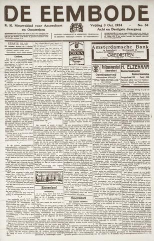 De Eembode 1924-10-03