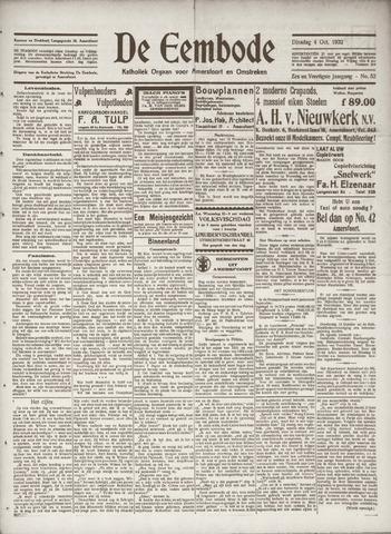 De Eembode 1932-10-04