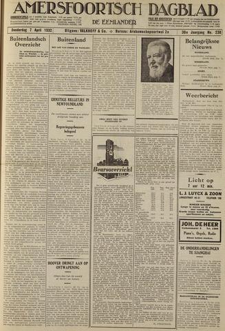 Amersfoortsch Dagblad / De Eemlander 1932-04-07