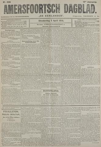 Amersfoortsch Dagblad / De Eemlander 1914-04-02
