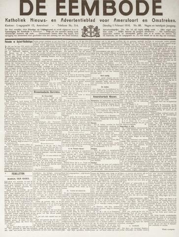 De Eembode 1916-02-01