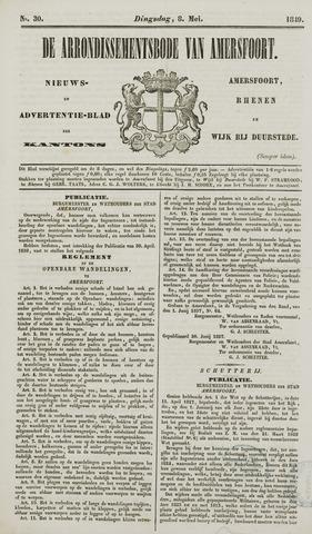 Arrondissementsbode van Amersfoort 1849-05-08