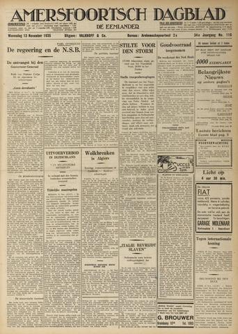 Amersfoortsch Dagblad / De Eemlander 1935-11-13