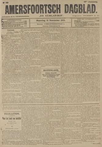 Amersfoortsch Dagblad / De Eemlander 1915-11-15
