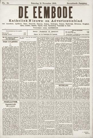 De Eembode 1903-11-21