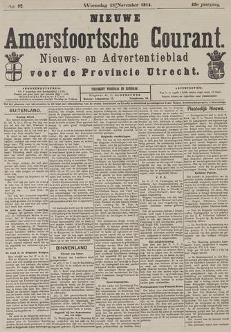 Nieuwe Amersfoortsche Courant 1914-11-18